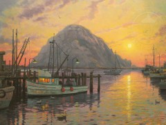 Morro Bay at Sunset