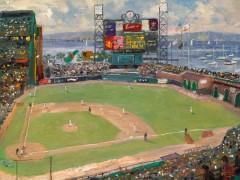 World Series Baseball Painting, Thomas Kinkade