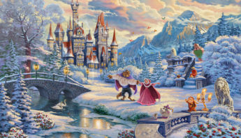Beauty & Beast Winter Painting