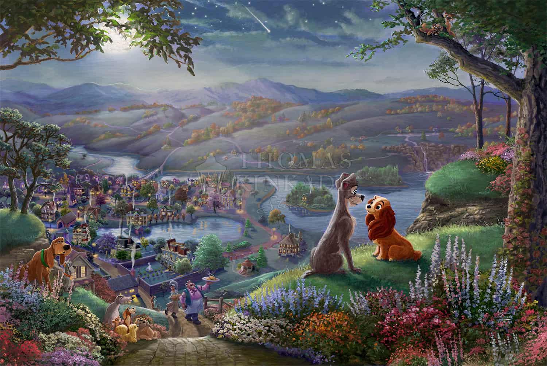 Disney Lady & The Tramp Falling In Love