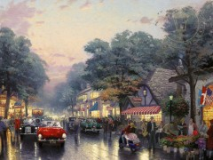 Carmel, Dolores Street And The Tuck Box Tea Room