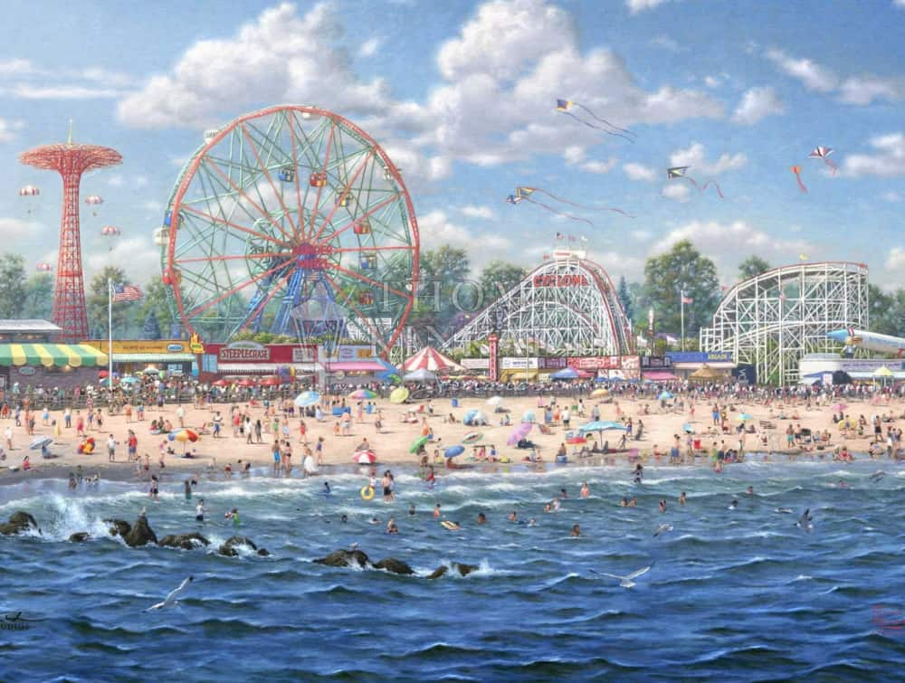Coney Island Painting