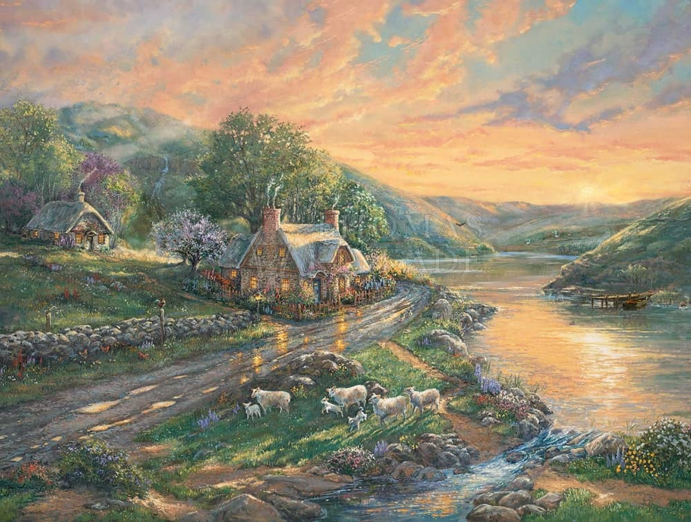 Daybreak Emerald Valley Painting