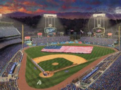 Evening at Dodger Stadium
