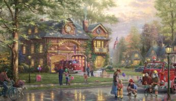 hometown firehouse painting