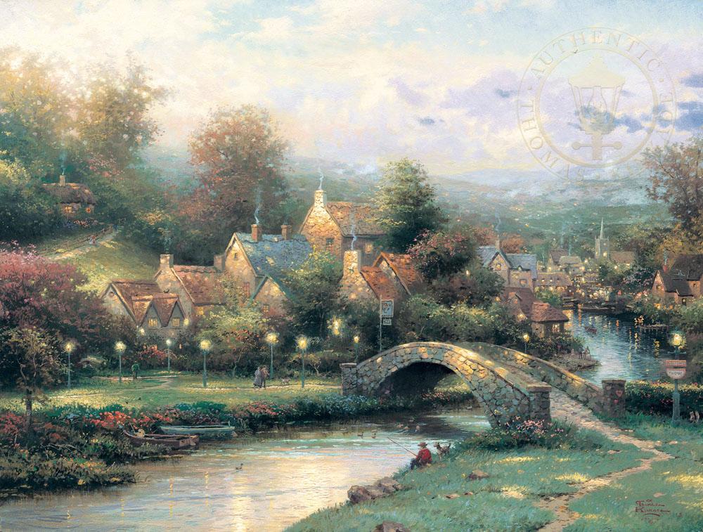 Lamplight Village Thomas Kinkade Smoky Mountains
