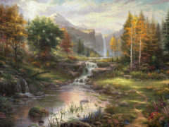 pretty painting thomas kinkade