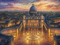 vatican thomas kinkade painting